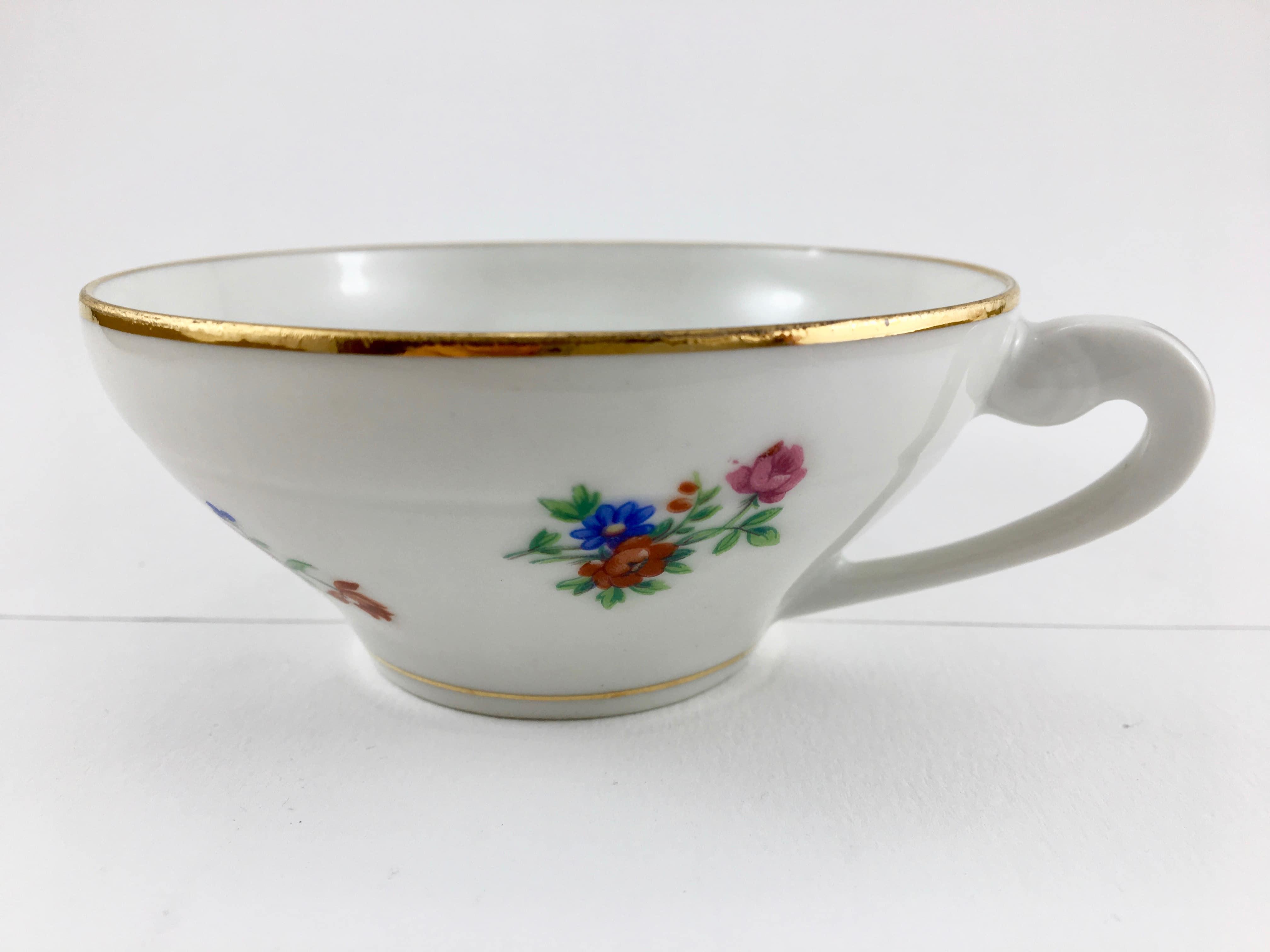 Porcelaine de limoges tasse fleurs sauvages - Porcelaine de limoges ...